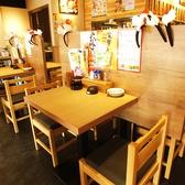 【大井町】簡単に席替えできるテーブル席