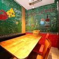 プライベート感抜群の完全個室。人気の席なので予約がおすすめ!