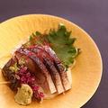 料理メニュー写真金華沖炙りのシメサバ
