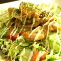 料理メニュー写真テリヤキサラダ/サラダうどん