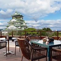 ダイナミックな大阪城が一望できるロケーション