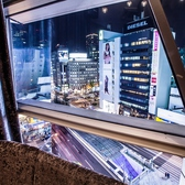 ■カラオケ個室■心斎橋を見下ろす開放的な個室。