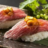 和牛肉寿司など豊富な肉寿司が楽しめる!