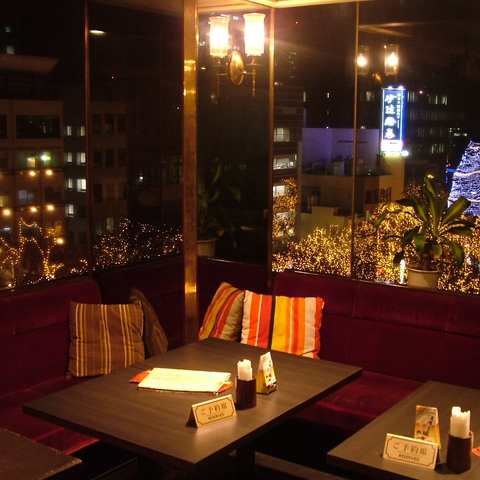 夜景の見えるPARTYフロア★定禅寺通りを一望できる広々とした空間は最大120名まで対応