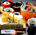 ランチにオススメ!お造りと旬の天ぷら御膳など御膳もご用意。