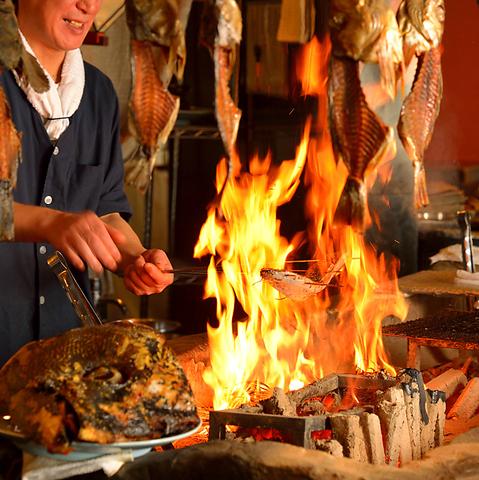 伊達な郷土料理と「原始焼」が自慢の牡鹿半島!魚/肉/野菜を最も美味しく食せる手法!