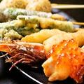 料理メニュー写真季節のプレミアム串揚げ