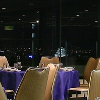 名古屋城まで見える夜景