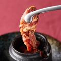 料理メニュー写真黒毛和牛壺漬けカルビ