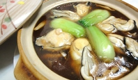カキと豆腐の土鍋煮込み
