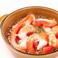 料理メニュー写真えびとトマトのあひーじょ