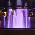 驚異のエンタテイメント!!音楽に合わせたショー噴水を目の前でお楽しみいただけます♪