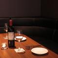 広めのテーブルとソファー席なので5名様でも心地よくお食事をお楽しみいただけます♪
