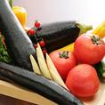 毎朝契約農家から直送されるオーガニック野菜