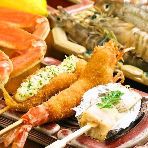 昭和25年、大阪法善寺に串カツ専門店として創業した老舗の味をお楽しみくださいませ