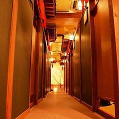 全席個室で純和風の店内が特徴の居酒屋