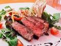 料理メニュー写真国産牛サーロインのタリアータ 野菜と共に