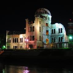 その日の潮状況にはよりますが、ラッキーな日にはライトアップされた「原爆ドーム」を経由できるかも♪