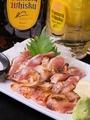 料理メニュー写真すだち鶏の塩タタキ