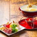 料理メニュー写真自家製チーズフォンデュ(1名分)2名分よりオーダー可!