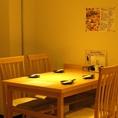 4名~6名席のテーブルもあり!