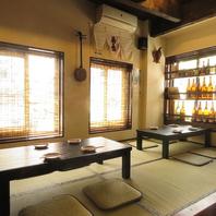 ゆったりと落ち着いた空間で沖縄料理をお楽しみください