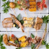 新鮮な朝引き鶏の他、豊富な串焼きをご用意☆