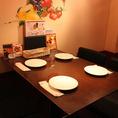 【テーブル席×4名利用】飲み会うあ接待でもお使いいただけます♪お料理とお酒の種類はご安心くださいませ!