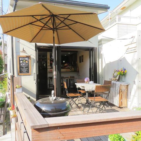 【堀ノ内駅から徒歩2分】 季節のお庭とテラスが魅力2F建てカフェ&居酒屋Cafe MIMOSA