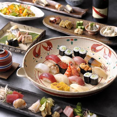 各地からとりよせた新鮮な魚介類、旬の味覚をお楽しみいただけます