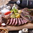 メインのステーキは【部位】と【グラム】をお好みで選んでオーダー!