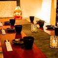和情緒溢れる個室席は新宿での女子会などのご利用にも最適です◎少人数様から団体様まで、人数様に合わせて幅広いタイプの個室席をご用意しております♪足を伸ばして寛げる掘りごたつ席は、お子様連れのお客様にも大変ご好評頂いております!!