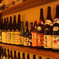 焼酎・日本酒が豊富!