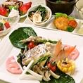 【前日まで要予約ももの木贅沢ランチ1500円】前日までの予約制【1日限定10食】の贅沢ランチです♪薬膳料理を元に季節の野菜や、水素水を使用して体の中から綺麗になれるお料理を提供致します♪ボリュームありのヘルシーメニューとなっております。