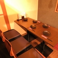 最大12名様までOKの掘りごたつ個室は、仕切りを使って2卓に分ける事も可能です。