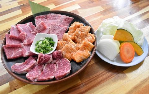 【おひとり様大歓迎★牛舞お手軽 お肉4種盛り】黒毛和牛カルビなど全5品 3600円
