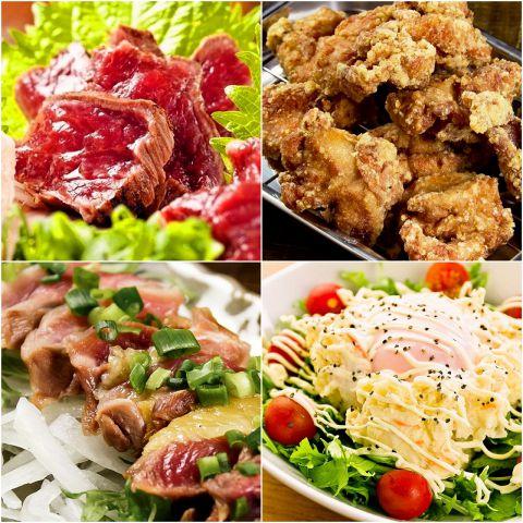 寅男の九州料理は、食材と仕込みにこだわっているため、一品一品の美味さが際立ちます♪大分中津のから揚げ、薩摩知覧鶏のももたたき、熊本直送の馬刺しといった九州料理はもちろんのこと、寅男特製のポテトサラダなどサイドメニューに至るまで、こだわって作っています!料理の味にこだわった宴会をしたい方にぴったりのお店です♪