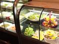 新鮮な美野菜と旬のフルーツが食べ放題☆