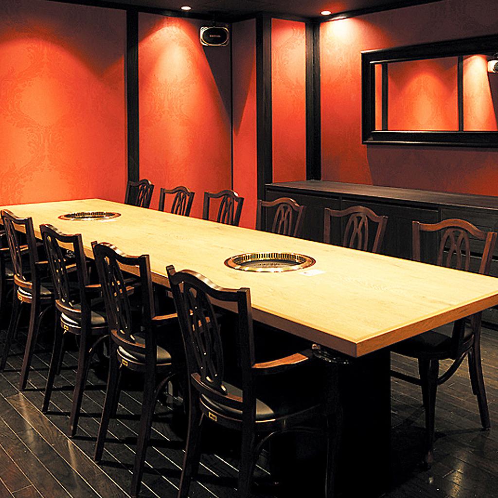 12名様まで対応可能な完全個室タイプのお部屋もございます。様々なプライベートシーンにご利用下さい