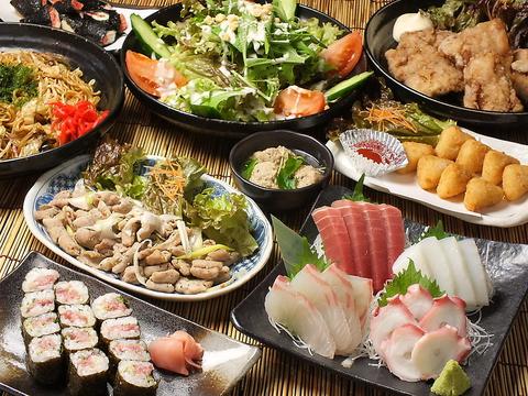 旬のお魚の刺身と津々浦々の地酒やレアな焼酎が豊富です!