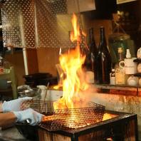 『タカカラ』の炭火焼で元気に焼き上げるお料理!