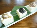 料理メニュー写真プチ島豆腐のやっこ3兄弟