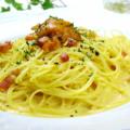 料理メニュー写真ウニ風味のカルボナーラ