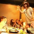人数多めの女子会で(*^_^*)最大宴会人数86名様までOK!!全席個室居酒屋、岡山 藩岡山駅前店を是非、ご利用下さい!!