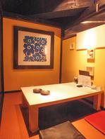 大小様々な個室を完備!