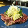 料理メニュー写真広島牛ランプのタタキ 瀬戸田レモンのポン酢で…