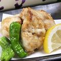 料理メニュー写真若鶏の唐揚げ/川エビ唐揚げ