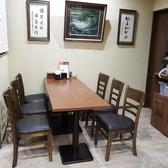 1階:6名様のテーブル席です。