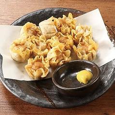 鶏皮せんべい/甘えび唐揚げ/揚げシュウマイ/鶏の唐揚げ/ポテトフライ