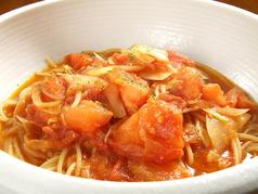 丸ごとトマトにんにくたっぷりトマトスープパスタ/野菜たっぷりのクリームスープパスタ